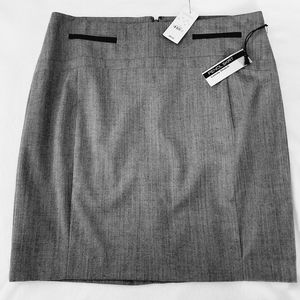 NWT Sz 10 Express Gray Pencil Skirt Zipper Accents